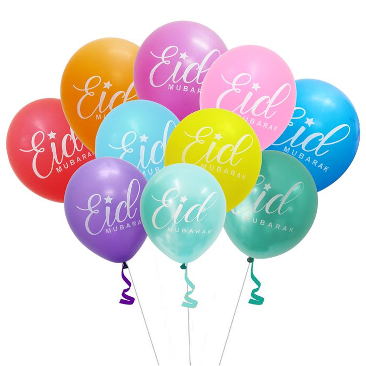 10 pack ballonger Eid mubarak