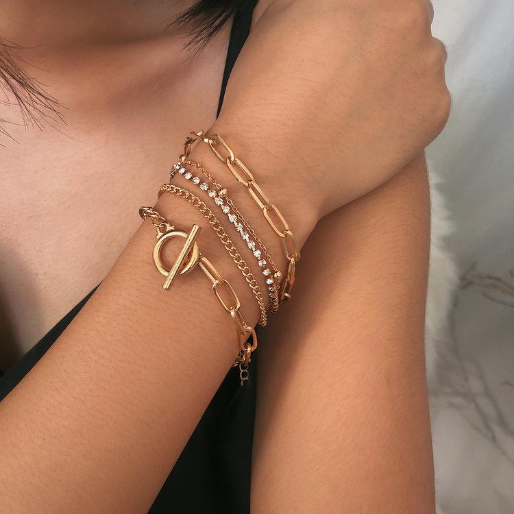 Geometrisk armband med strass