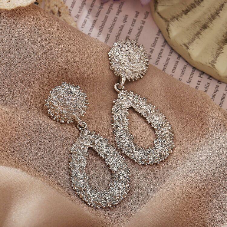 Extra stor elegant örhänge