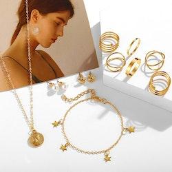 Smyckes set; Halsband, örhängen och ringar