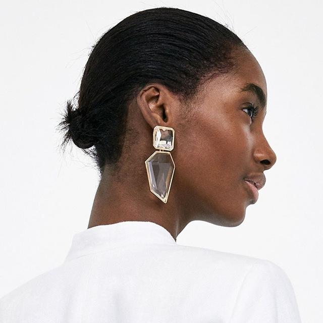 Stor geometrisk örhänge