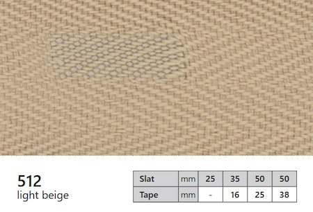 1 m / Textilstegband 25 mm 512 Light beige (lagervara)