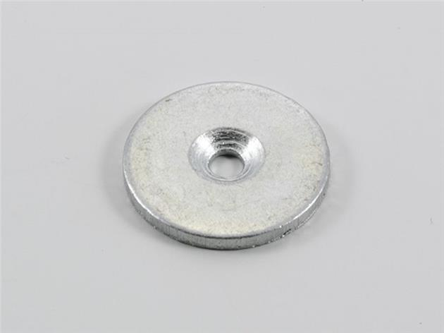 1st / Neodym-magnet 20 mm med skruv rund med håldiameter 4 mm