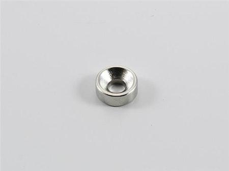 1st / Neodym-magnet 8 mm med skruv rund med håldiameter 4 mm