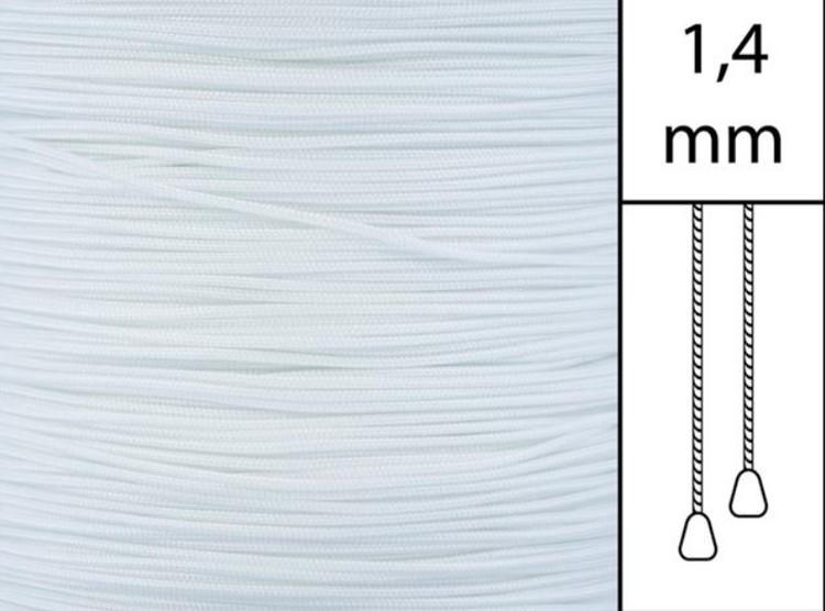1 m / Persiennlina 1,4 mm A00 White (Lagervara)xx