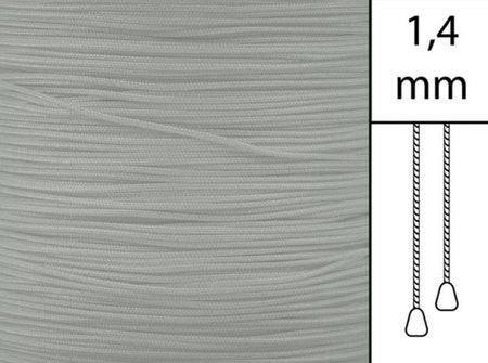 1 m / Persiennlina 1,4 mm A02 Grey (Lagervara)