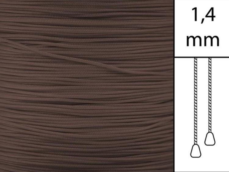 1 m / Persiennlina 1,4 mm A25 Brun (Lagervara)