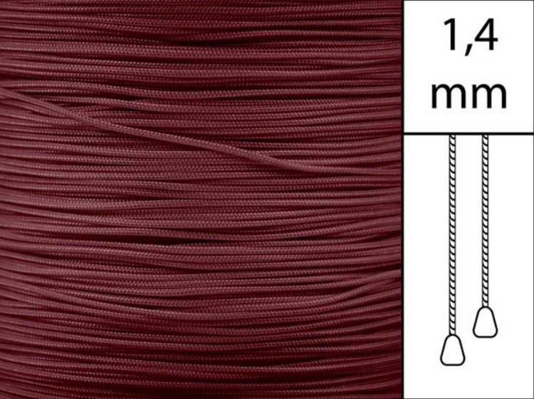 1 m / Persiennlina 1,4 mm A19 Crimson  (best.vara minst .50m)