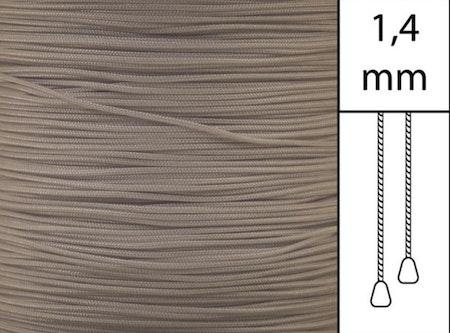 1 m / Persiennlina 1,4 mm A18 Light brown  (best.vara minst .50m)