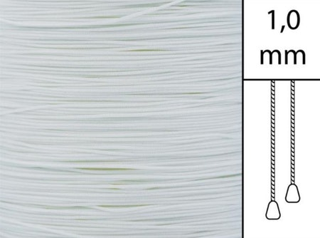 1 m / Persiennlina 1,0 mm A00 Vit (Lagervara)