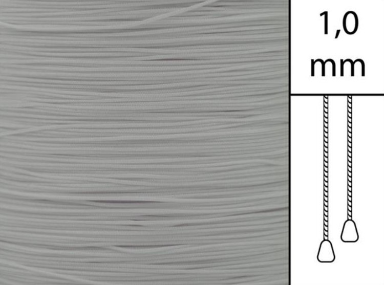 1 m / Persiennlina 1,0 mm A02 Grey (best.vara)