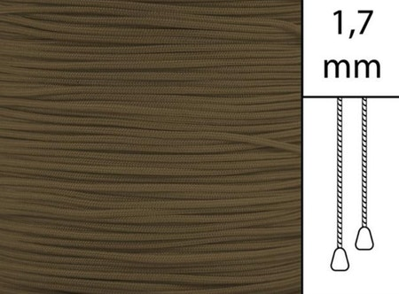 1 m / Persiennlina 1,7 mm C8003 Walnut (Best.vara)
