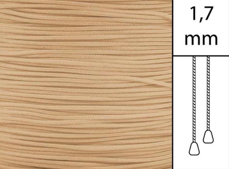 1 m / Persiennlina 1,7 mm C8006 Mocca  (best.vara minst .50m)