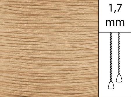 50 m / Persiennlina 1,7 mm C8006 Mocca  (best.vara minst .50m)