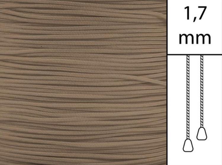 50 m / Persiennlina 1,7 mm C8016 Dark beige (best.vara minst .50m))