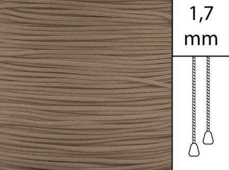 1 m / Persiennlina 1,7 mm C8016 Dark beige (best.vara minst .50m))