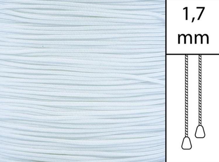 1 m / Persiennlina 1,7 mm C8000 White  (best.vara minst .50m)