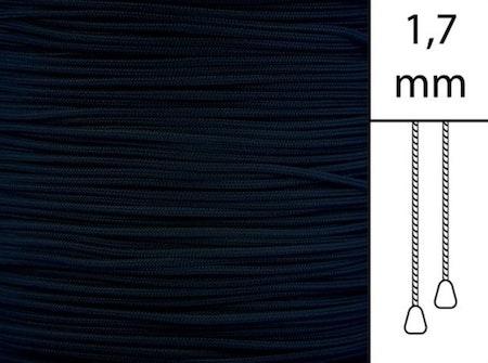 30 m / Persiennlina 1,7 mm C8013 Black  (best.vara minst .30m)