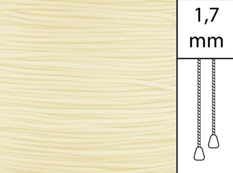 1 m / Persiennlina 1,7 mm C8001 Ivory  (best.vara minst .50m)