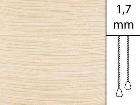 1 m / Persiennlina 1,7 mm A15 Vanilla  (Lager)