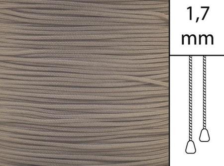 1 m / Persiennlina 1,7 mm A18 Light brown (best.vara)