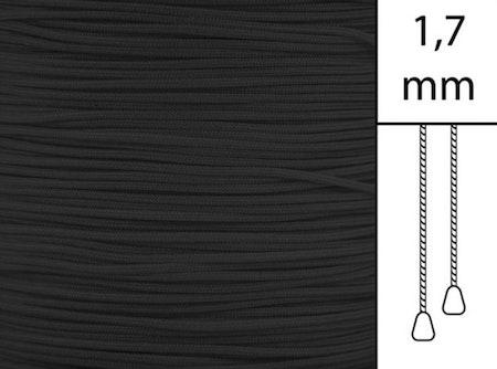 1 m / Persiennlina 1,7 mm A03 Black (Lagervara)