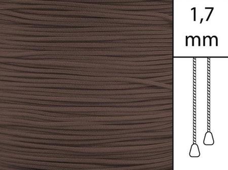 1 m / Persiennlina 1,7 mm A25 Dark brown (best.vara)