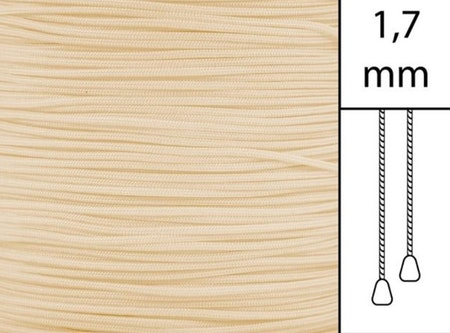 1 m / Persiennlina 1,7 mm C0801 Beige  (Lagervara)
