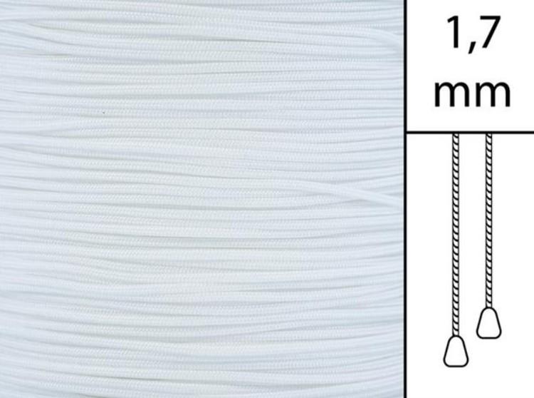 1 m / Persiennlina 1,7 mm A00 White (Lagervara)