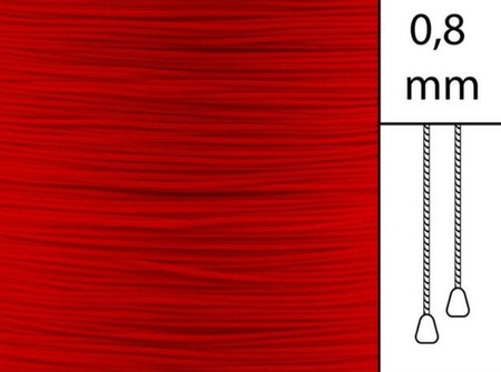 1 m / Persiennlina 0,8 mm A08 Red (best.vara)