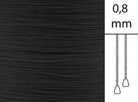 1 m / Persiennlina 0,8 mm A03 Black (Lagervara)
