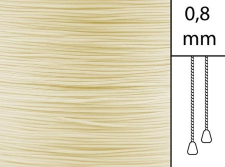 1 m / Persiennlina 0,8 mm A21 Beige (best.vara minst .50m)