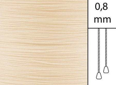 1 m / Persiennlina 0,8 mm A15 Vanilla (Lagervara)