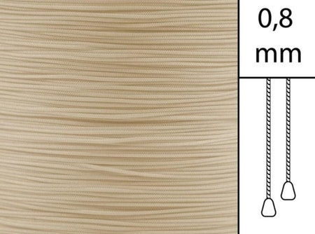 1 m / Persiennlina 0,8 mm A22 Dark beige (best.vara)