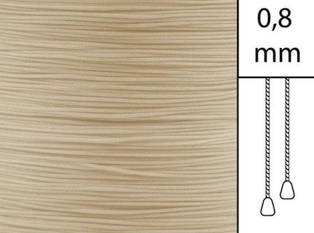 1 m / Persiennlina 0,8 mm A22 Dark beige (best.vara minst .50m)