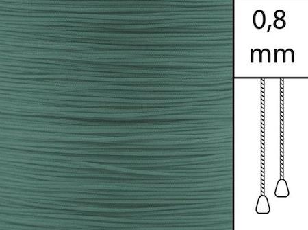 30 m / Persiennlina 0,8 mm A12 Dark green (best.vara minst .30m)