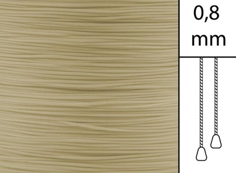 30 m / Persiennlina 0,8 mm A20 Mocca  (best.vara minst .30m)