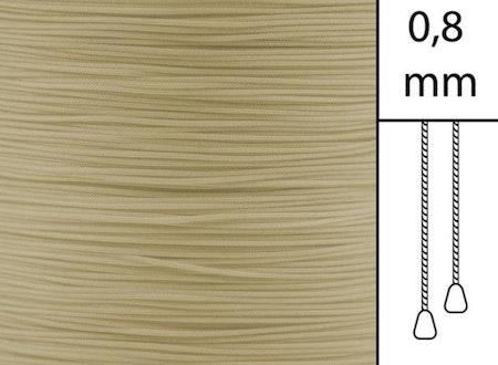 1 m / Persiennlina 0,8 mm A20 Mocca  (best.vara minst .50m)