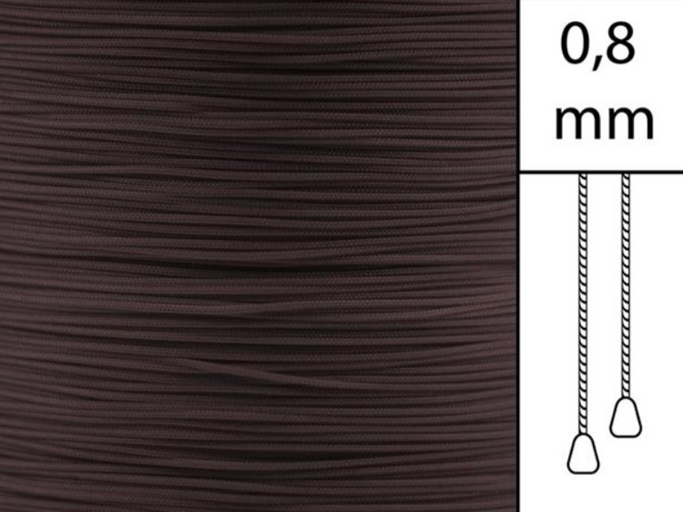 1 m / Persiennlina 0,8 mm S20 Dark brown (Lagervara)