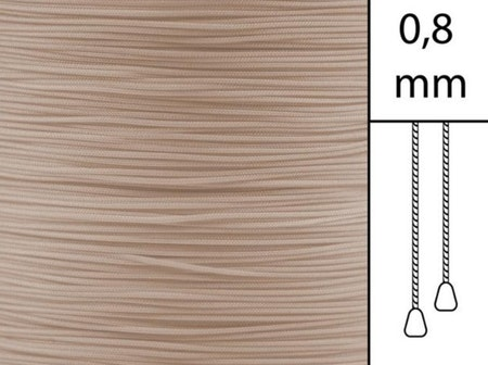 1 m / Persiennlina 0,8 mm S06 Light beige (best.vara)