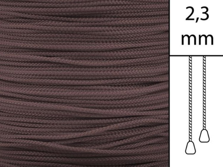 1 m / Persiennlina 2,3 mm W56 Dark brown (Lagervara)