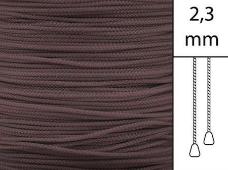 1 m / Persiennlina 2,3 mm W56 Dark brown (Lagervara)