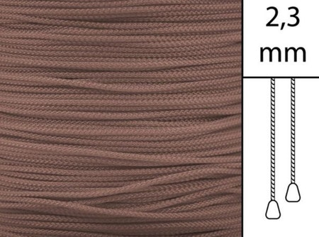 1 m / Persiennlina 2,3 mm W30 Brown (best.vara min.30m)