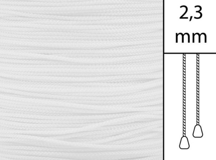 1 m / Persiennlina 2,3 mmW04 White (Lagervara)