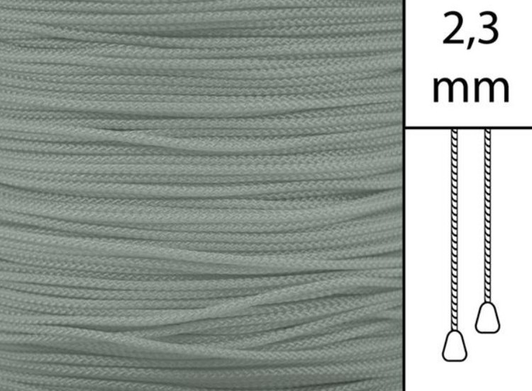 1 m / Persiennlina 2,3 mm W83 Dark grey  (best.vara min.30m)