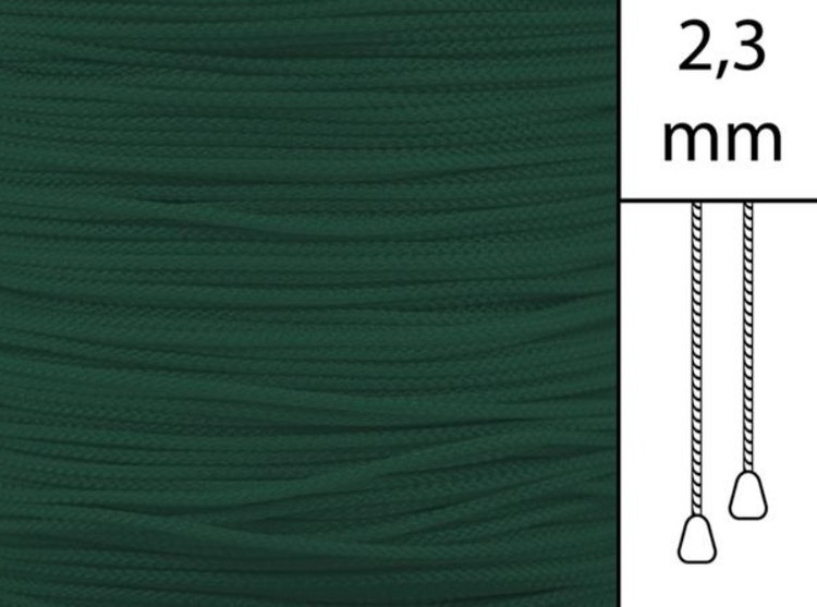 1 m / Persiennlina 2,3 mm W80 Dark green  (best.vara min.30m)