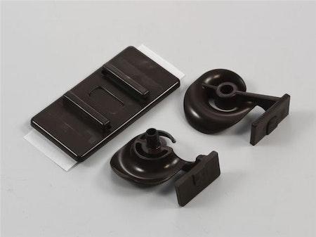 Hållare för kedja 3,2 mm frontmodell (vit/brun)
