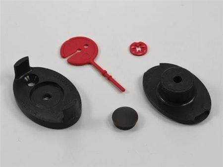 Vägghållare för kedja (vit/brun/svart)