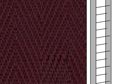 1m / Textilstegband F0519 44/53/T25 Mulberry
