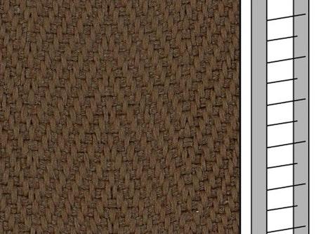 1m / Textilstegband F0534 44/53/T25 Brown tec (best.vara 10 dgr)